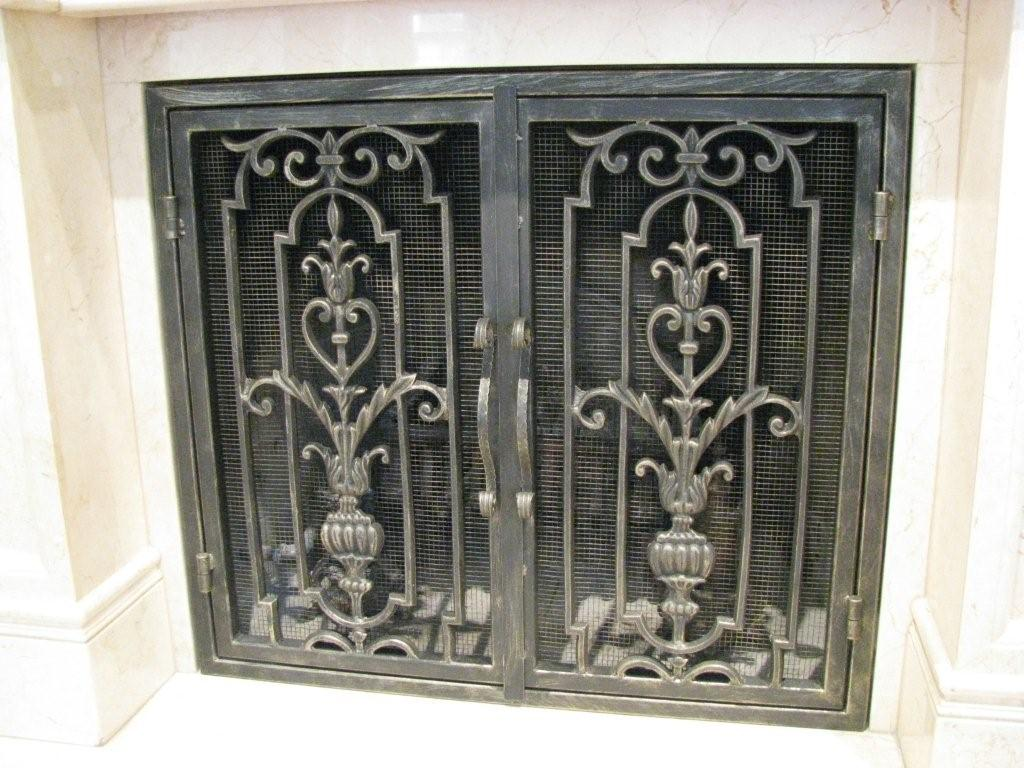 Fireplace screens san diego ornamental iron fireplace screens teraionfo