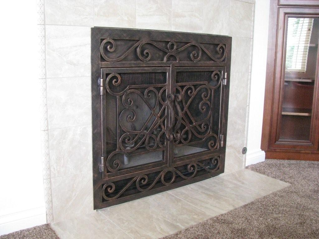 Fireplace screens san diego ornamental iron sdironfireplacescreens010g teraionfo